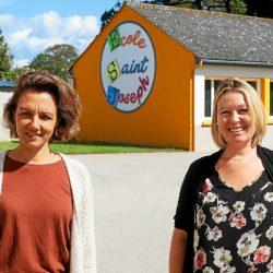 Karine Carro, la directrice ( à droite) a accueilli une nouvelle enseignante au sein de l'équipe, Claire Cadoret